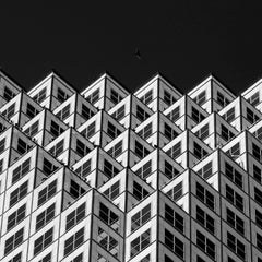 Miami Downtown- B&W Abstract Architectural Photograph