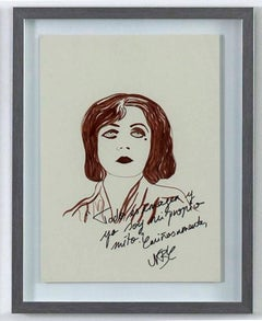 Pola Negri The Disenchanted Project- Ink on paper One of a kind drawing