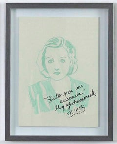 Tallulah Bankhead The Disenchanted Project- Ink on paper One of a kind drawing