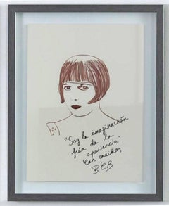 Louise Brooks The Disenchanted Project- Ink on paper One of a kind drawing