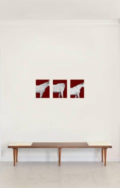 Red Edition Triptych - Special Edition Horse Series Color Photographs