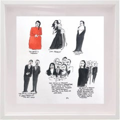 The Artist is Present - Marina Abramovich One of a kind Watercolor