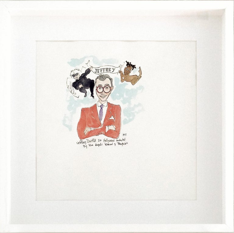 Jeffrey Deitch Protected by His Angels Warhol and Basquiat - One of a kind
