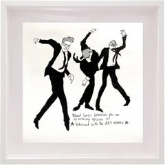 Robert Longo Dances -  One of a kind watercolor