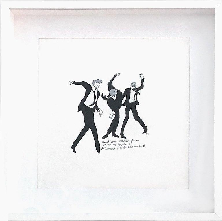 Robert Longo Dances -  One of a kind watercolor, Framed