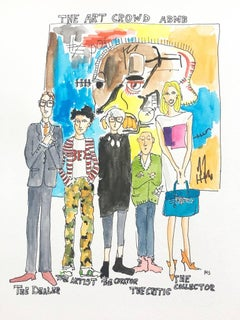 The Art Crowd at ABMB - One of a kind watercolor