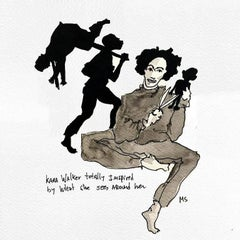 Kara Walker, Totally Inspired - One of a kind watercolor
