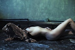 """""""Girl in Fur"""" - Limited Edition medium size Nude Color Photograph"""