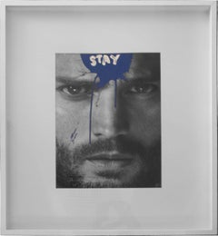 Stay - Jamie Dornan Black and White Mixed Media Photograph