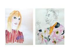Jane Birkin and Serge Gainsbourg in Dries van Noten Diptych