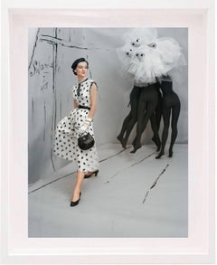 Dress by Mollie Parnis, Background by Marcel Vertes, 1953 Color Photograph