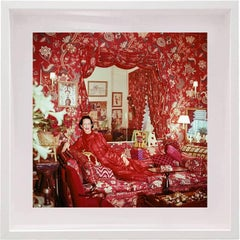 "Horst P. Horst - ""Garden in Hell""  -Diana Vreeland in Her Garden in Hell NYC Apartment, Framed"