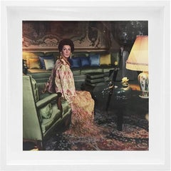 Donna Marella Agnelli, Forte dei Marmi, 1967 - Color Photograph Framed