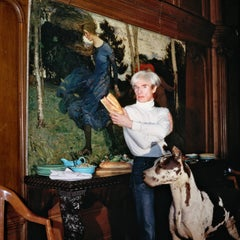 Andy Warhol in His Factory, New York, 1983, Extra Large Color Photograph