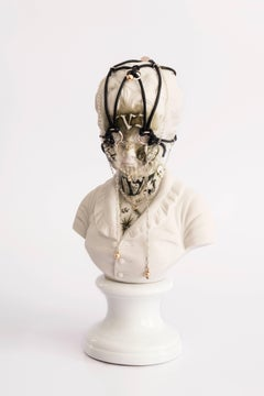 Untitled #9 from 'Los Infortunios de la Virtud' series, Antique Porcelain Bust