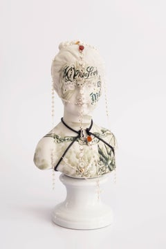 Untitled #10 from 'Los Infortunios de la Virtud' series, Antique Porcelain Bust