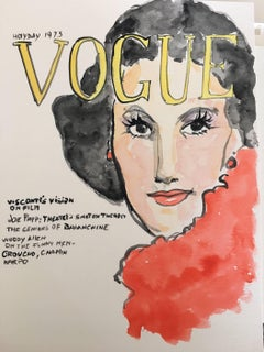Vogue #2, Watercolor on Archival Paper, 2016