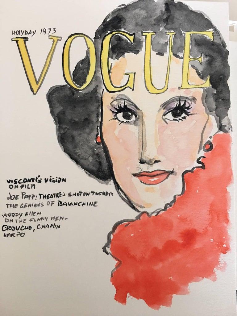 Vogue #2, Watercolor on Archival Paper, 2016