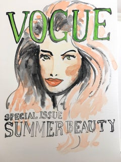 Vogue #3, Watercolor on Archival Paper, 2016