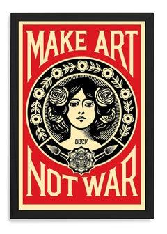 Make Art Not War, Framed Offset Poster, 2018