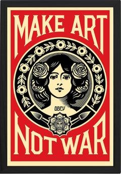 """""""Make Art Not War"""", Framed Offset Poster, 2018"""