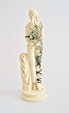 Untitled #4 from 'Los Infortunios de la Virtud', Antique alabaster sculpture