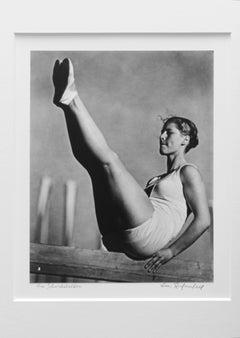 Am Schriebebalken, 1936 (Balance Beam), Silver Gelatin Print