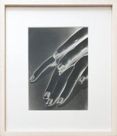 Study of Hands, Negative Solarization print, Framed