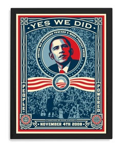 Yes We Did, Framed Offset Poster, 2008