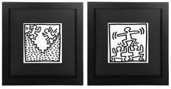 Untitled from 'Tony Shafrazi' Portfolio, Framed Lithograph Set of 2, 1982
