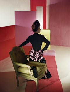 """Suit and Headdress by Schiaparelli, 1947"", Color Photograph"