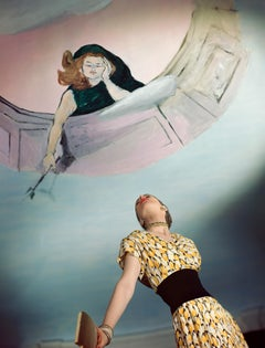 """Dress by Jo Copeland, Murals by Marcel Vertes, 1946"", Color Photograph"