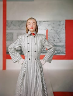 """Coat by Connie Adams, 1946"", Color Photograph"