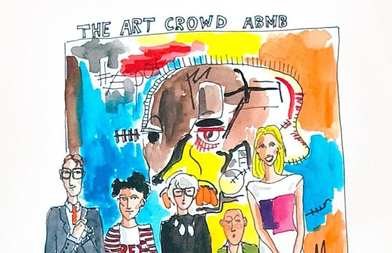 The Art Crowd from The Art World Series, Watercolor on Archival Paper, 2017 For Sale 4