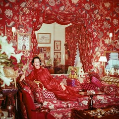 Diana Vreeland in her Garden in Hell NYC Apartment, 1979 Small Photograph
