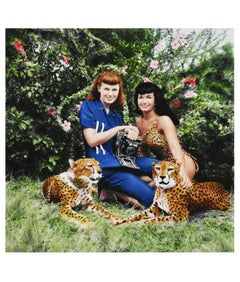 Bettie Page and Cheetahs at Africa USA, Boca Raton, Florida, 1954