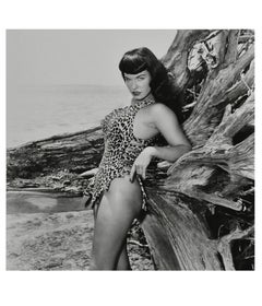 Bettie Page with Driftwood, Key Biscayne, FL, 1954