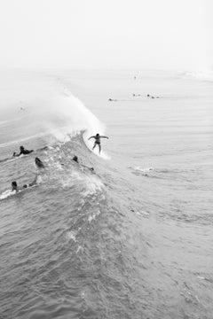 Untitled #3, Juno Beach, Beach Series, Small Black and White Photograph, 2017