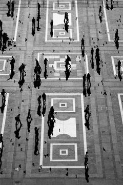 People, Milan, Small Black and White Photograph, 2011