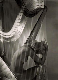 """Lisa with Harp, 1939"", Archival Pigment Print on Hahnemuehle Bamboo Paper"