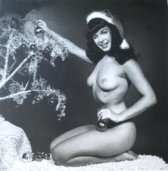"""Bettie Page with Christmas Tree"", Miami FL, 1954"