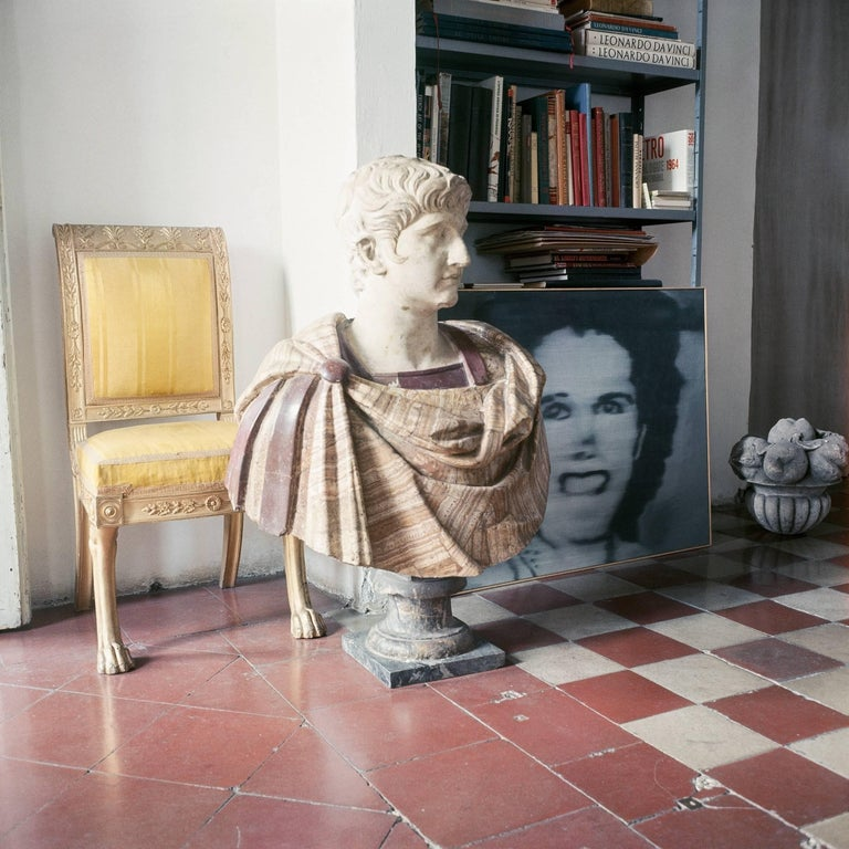 """Cy Twombly in Rome, 1966 - Untitled #29 by Horst P. Horst Image 15.7 x 15.7 inches  Sheet size 19.7 x 19.7 Inches Edition of 5/10 Archival Pigment Print  Three other sizes are available. All Prices are quoted as """"initial price"""".  Please note that"""