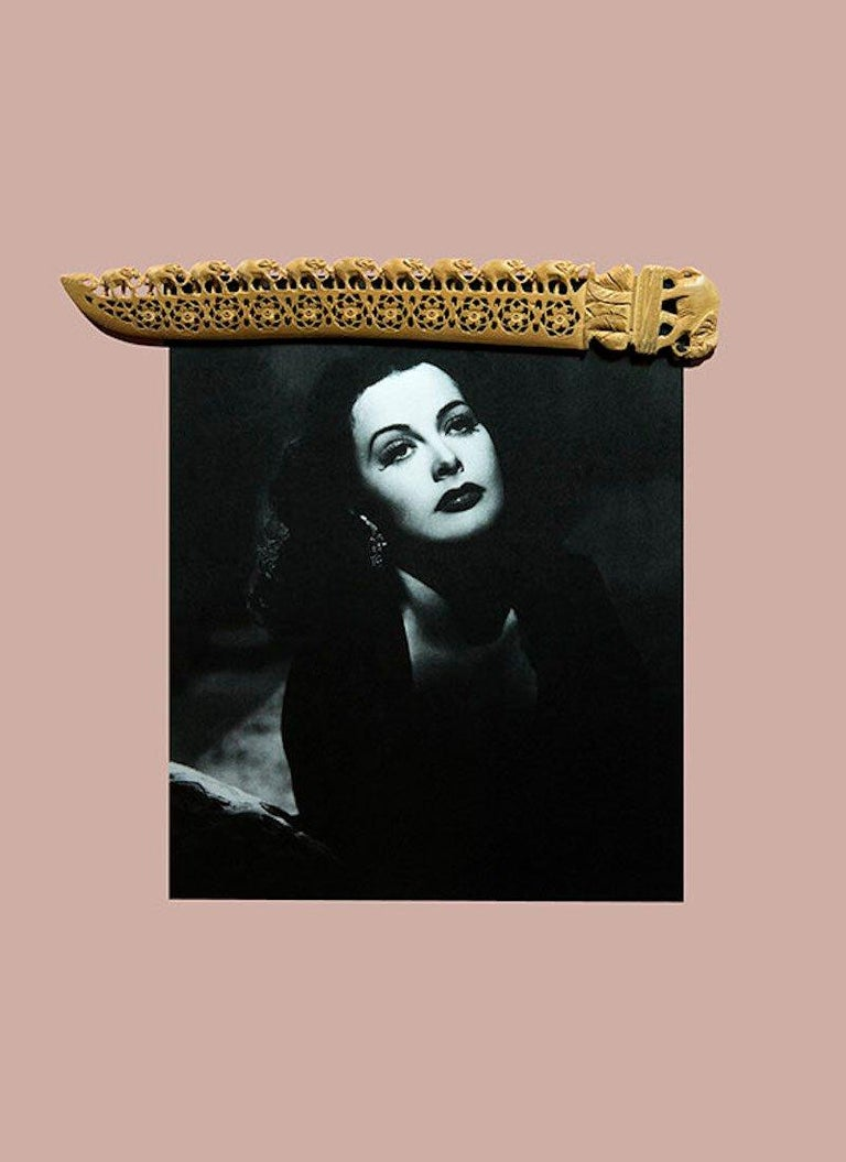 Hedy Lamarr by Paloma Castello 47.2 x 33 inches  Edition of 1/3 + 1A Digital photographs on glossy pearlescent paper 2018 _______________________ Paloma Castello born 1988 Bogotá, Colombia.  Paloma Casteloo uses her work to bring life or a different