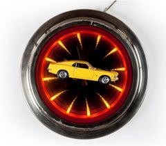 'Mustang Clock' Castelloland- Contemporary Color Photograph