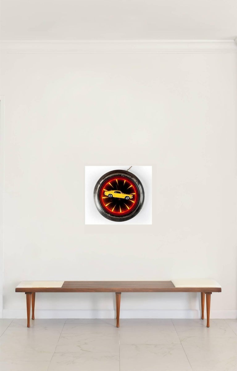 'Mustang Clock' Castelloland 27.5 x 19.6 inches Edition 2/5 + 1Ap Digital photographs on glossy pearlescent paper 2015 _______________________ Paloma Castello born 1988 Bogotá, Colombia.  I use my work to bring life or a different narrative to an