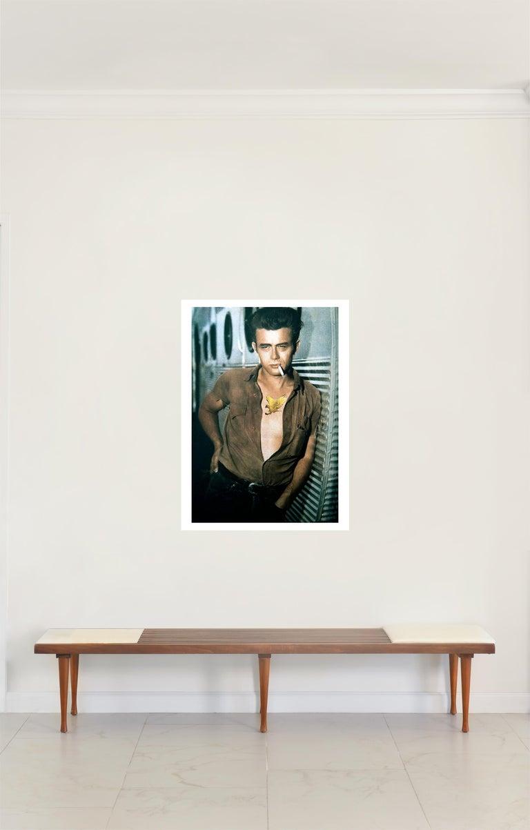 James Dean, Contemporary Color Photograph (large Size), 2018 - Gray Portrait Photograph by Paloma Castello