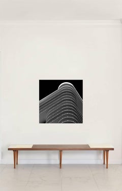Miami Stripes 1,  Large Black and White Architectural Photograph, 2009