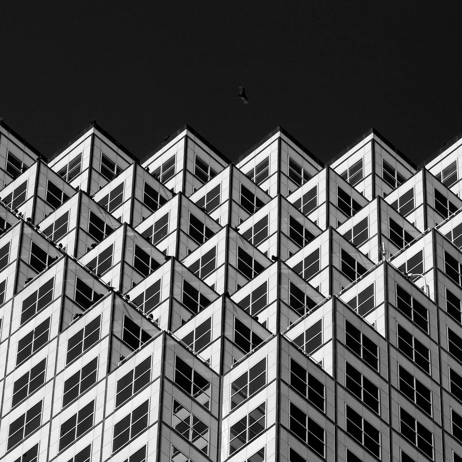 Miami Downtown 1, Black and White Architectural Photograph, 2014