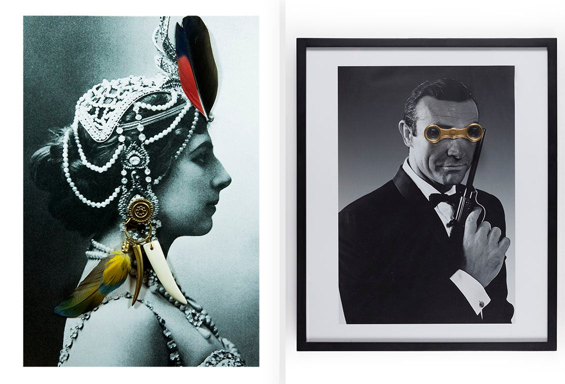 Diptych: Mata Hari and James Bond from the Castelloland series