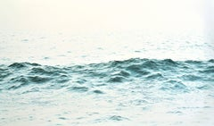 """Brahman, HIghly Realistic Water (Ocean)  Painting in Blue/Green &  White"""